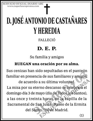 José Antonio de Castañares y Heredia